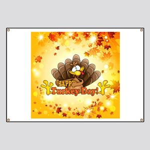 Happy Turkey Day Banner