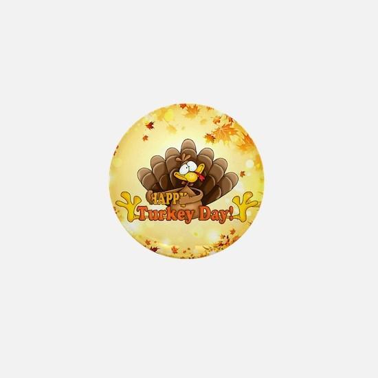Happy Turkey Day Mini Button (100 pack)