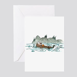 sea otter Greeting Cards (Pk of 10)