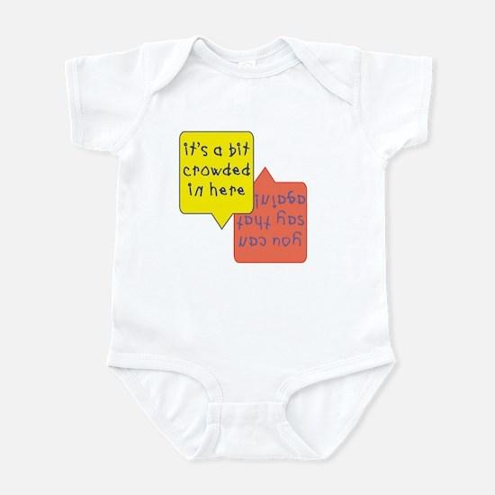 crowded womb - twins Infant Bodysuit
