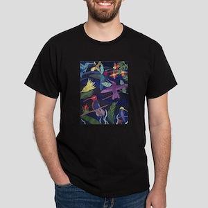Hummingbird Mosaic Art Dark T-Shirt