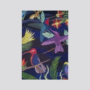 Hummingbird Mosaic Art Rectangle Magnet