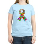 3D Puzzle Ribbon Women's Light T-Shirt