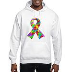 3D Puzzle Ribbon Hooded Sweatshirt
