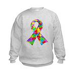3D Puzzle Ribbon Kids Sweatshirt