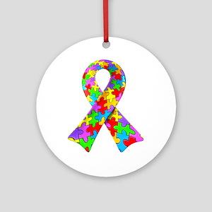 3D Puzzle Ribbon Ornament (Round)