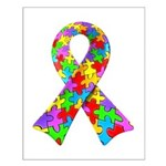 3D Puzzle Ribbon Small Poster