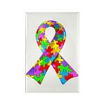 3D Puzzle Ribbon Rectangle Magnet (100 pack)