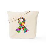 3D Puzzle Ribbon Tote Bag