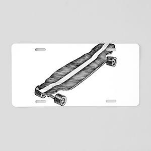 Skateboard Aluminum License Plate