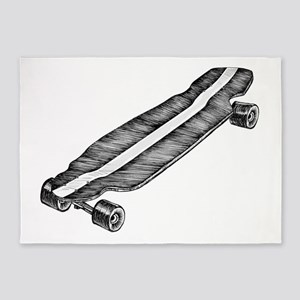 Skateboard 5'x7'Area Rug