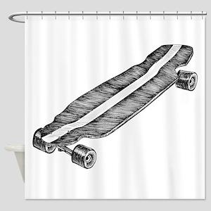 Skateboard Shower Curtain