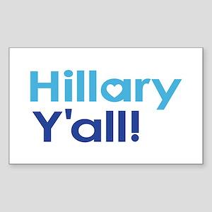 Hillary Y'all Sticker