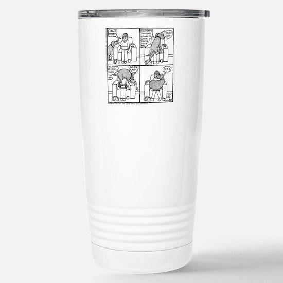 Poppy The Lapdog Stainless Steel Travel Mug