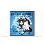 Cat Capricorn Postcards (Package of 8)