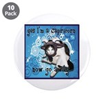 "Cat Capricorn 3.5"" Button (10 pack)"