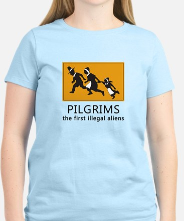 Pilgrims - The first illegal aliens T-Shirt