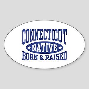 Connecticut Native Sticker (Oval)