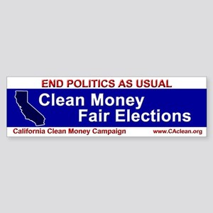 """""""End Politics As Usual"""" Red Bumper Sticker"""