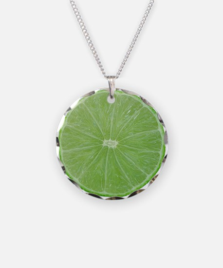 Slice of Lime Necklace