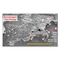 Saryshagan Missile Defense Sticker (rectangle)