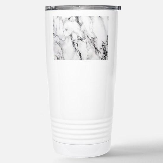 White Marble Stainless Steel Travel Mug