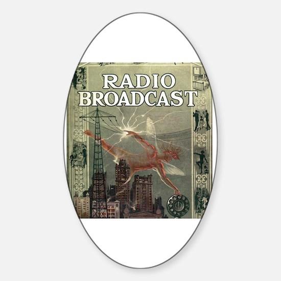 Cute Radio city Sticker (Oval)