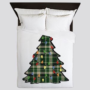 Plaid Christmas Tree Queen Duvet