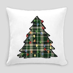 Plaid Christmas Tree Everyday Pillow