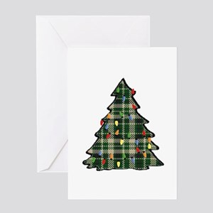 Plaid Christmas Tree Greeting Cards