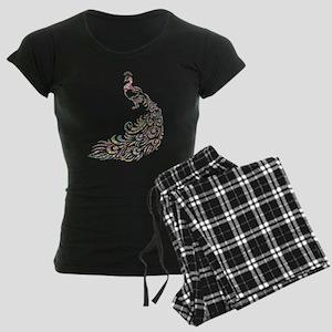 Circle Prismatic Peacock Women's Dark Pajamas