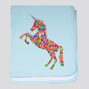 Prismatic Rainbow Unicorn baby blanket