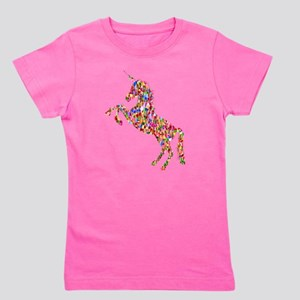 Prismatic Rainbow Unicorn Girl's Tee