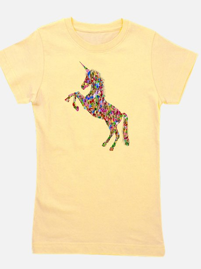 Prismatic Rainbow Unicorn Girl's Tee