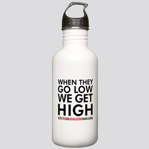 When They Go Low, We Stainless Water Bottle 1.0l