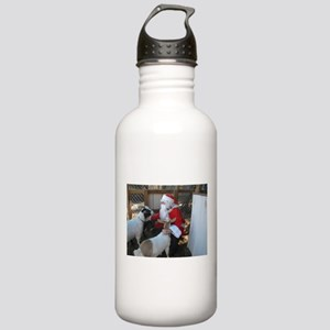 the goats and santa Water Bottle