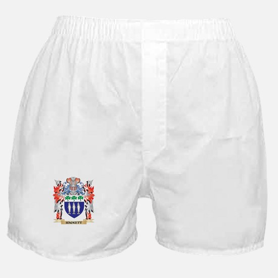 Hackett Coat of Arms - Family Crest Boxer Shorts