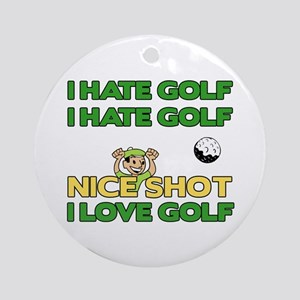 Golf Fun Ornament (Round)