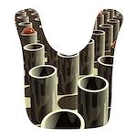 Stockyard of Cylinders Polyester Baby Bib