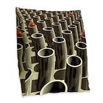 Stockyard of Cylinders Burlap Throw Pillow