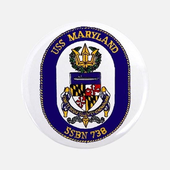 """USS Maryland SSBN 738 3.5"""" Button"""