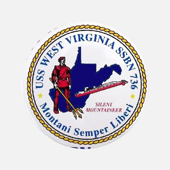 """USS West Virginia SSBN 736 3.5"""" Button"""