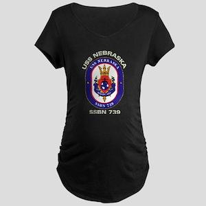 USS Nebraska SSBN 739 Maternity Dark T-Shirt