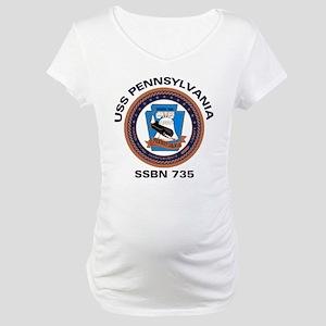 USS Pennsylvania SSBN 735 Maternity T-Shirt