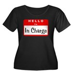 Hello I'm In Charge Women's Plus Size Scoop Neck D