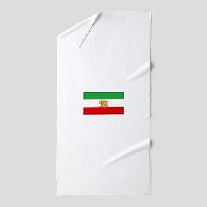 Flag of Persia / Iran (1964-1980) Beach Towel