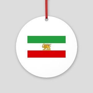 Flag of Persia / Iran (1964-1980) Round Ornament
