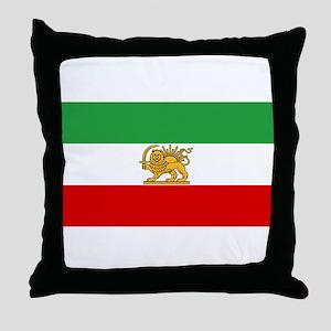 Flag of Persia / Iran (1964-1980) Throw Pillow