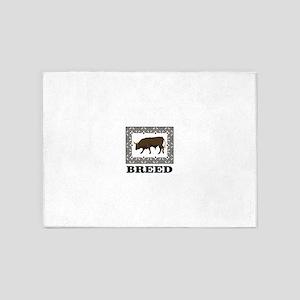 bull breed brown 5'x7'Area Rug
