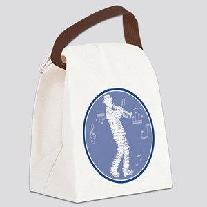 trumpet player build with notes Canvas Lunch Bag